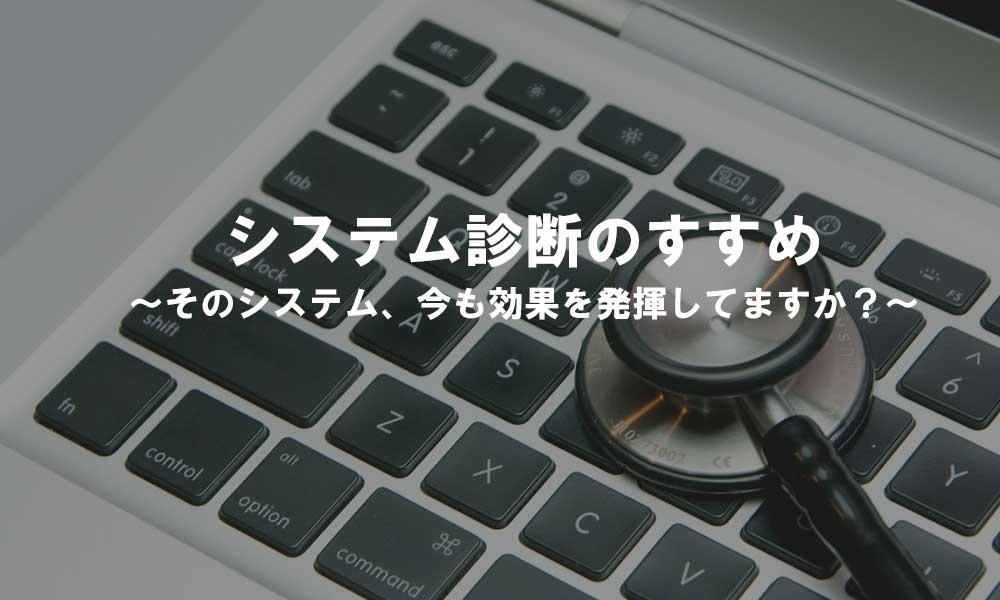 システム診断のすすめ~そのシステム、今も効果を発揮してますか?~